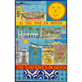 The Sun lives in Nerja. (El sol vive en Nerja).