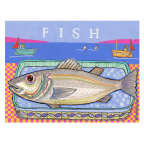 Fish on plate.