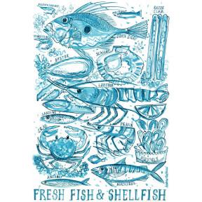 Fresh fish and shellfish.A3