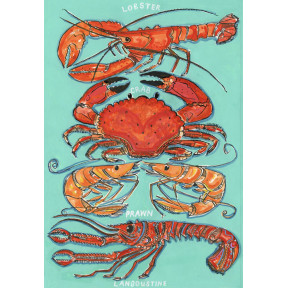 Lobster, Crab, Prawn and Langoustine .A3