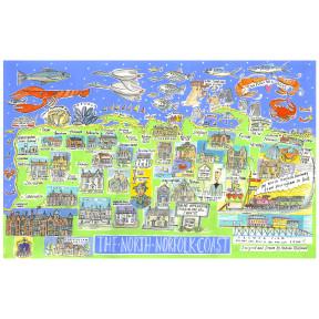 North Norfolk coastal map.