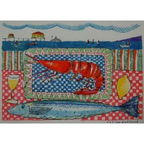 Prawn and mackerel
