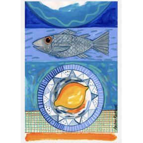 Sea Bass and lemon.A3