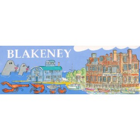 Village print. Blakeney. Long.