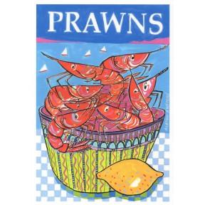 Prawns in bowl with Lemon