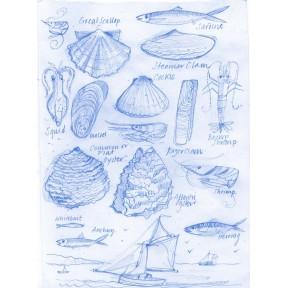 Shellfish and Boat. A4.